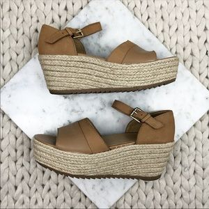 Naturalizer Tan Espadrille Platform Sandals